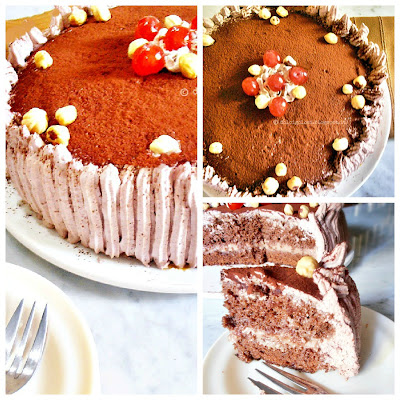 Dolci golosità: Torta al cioccolato con crema alla nutella