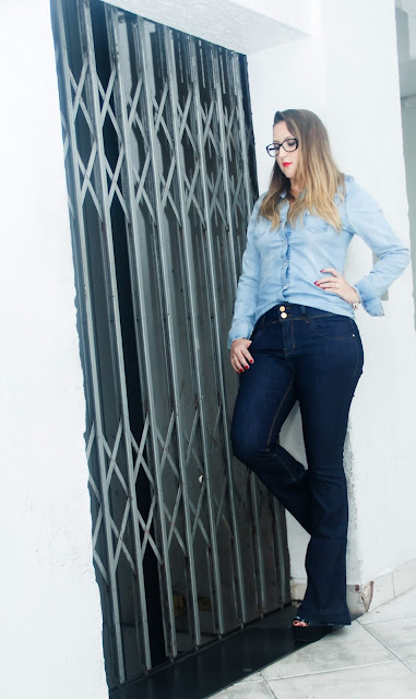 Look do Brás: Calça Flare - Black Jeans