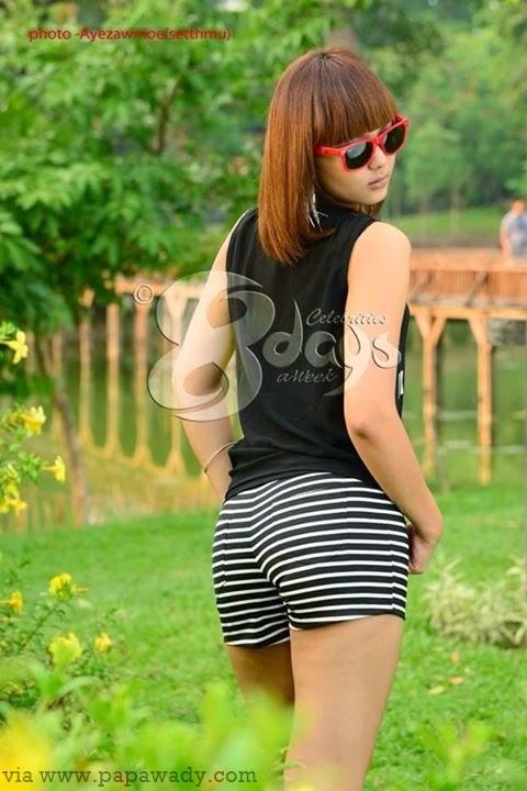 Shwe Mhone Ya Ti - Kandawgyi Park Photoshoot