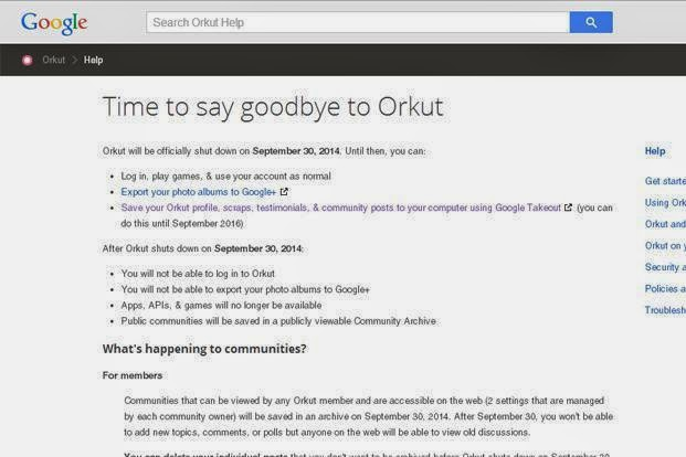Google to Shut Down Orkut in September 30