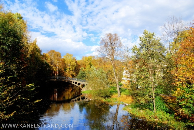 iron bridge in Sandvika, Norway
