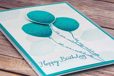 Birthday Card Featuring the Balloon Celebration Stamp Set from Stampin' Up! UK
