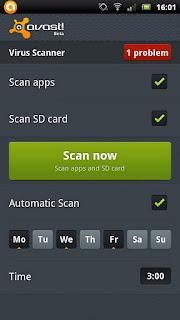 AVast Antivirus terbaik 2012 untuk android
