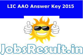 LIC AAO Answer Key 2015