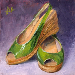 My Things, Green Summer Shoes by Liza Hirst