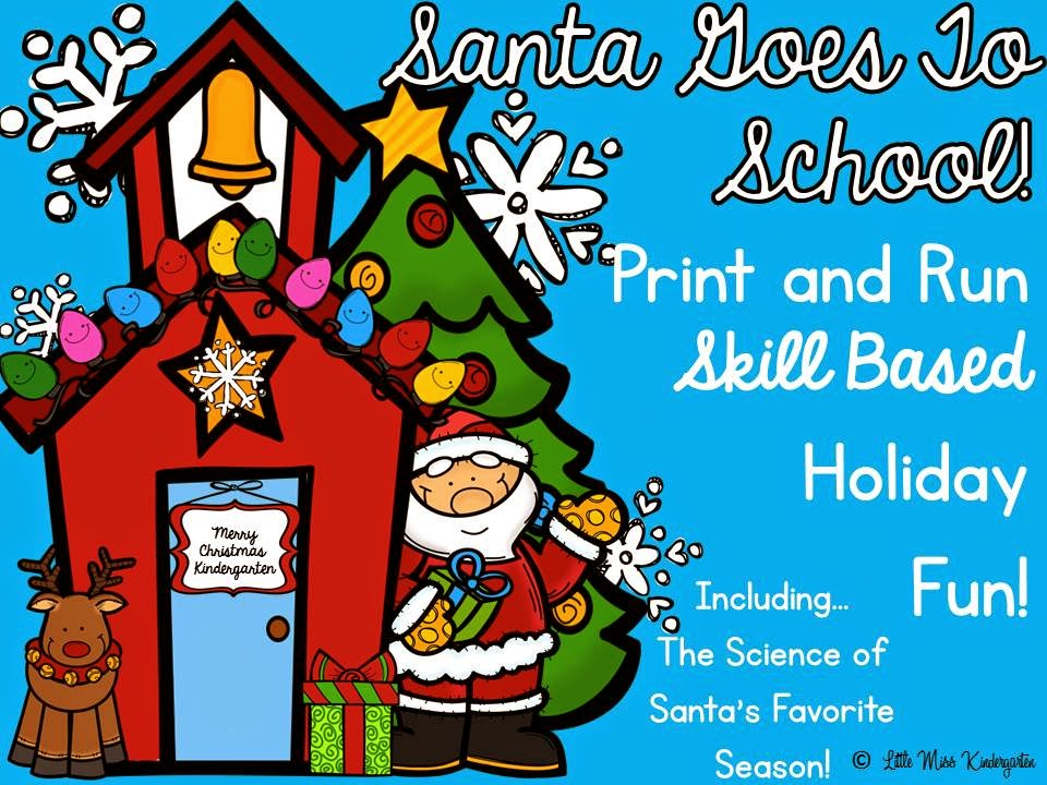 http://www.teacherspayteachers.com/Product/Santa-Goes-To-School-Print-And-Run-Printables-1015395
