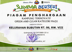 PIAGAM PENGHARGAAN GREEN and CLEAN 2014