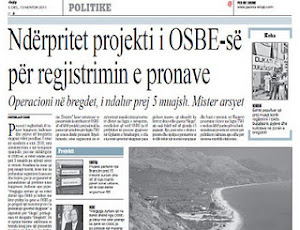 Impeachment of the OSCE project for registration of properties in Ionian Coast