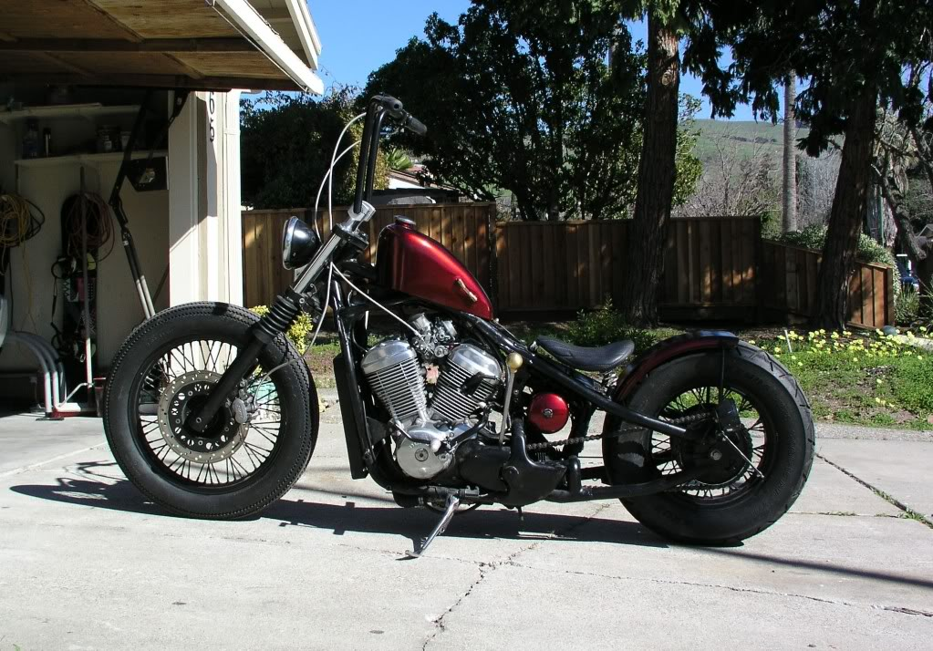 honda shadow vlx 600 bobber peanut tank mashed up life