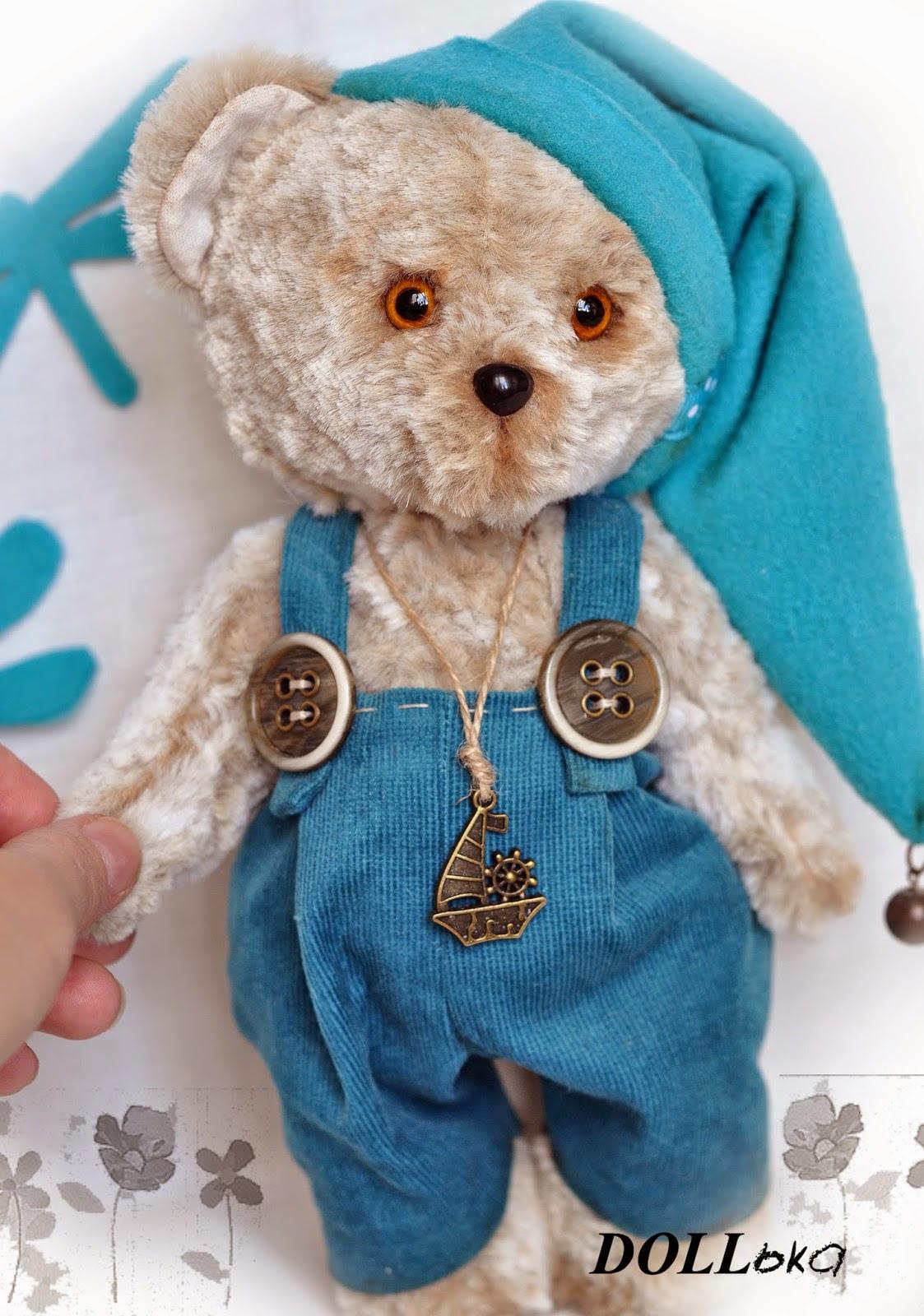 мишка тедди текстильная игрушка ручной работы