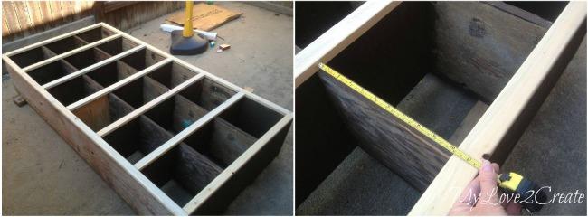 MyLove2Create, Cubby Shelf Revamp, measuring vertical trim