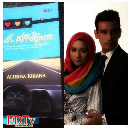 ) Gambar Azlee Khairi dan Zara Zya dalam drama Love You Mr. Arrogant