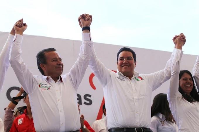 TODO EL APOYO DEL PRI NACIONAL  A CARLOS ZEPEDA: CESAR CAMACHO QUIROZ