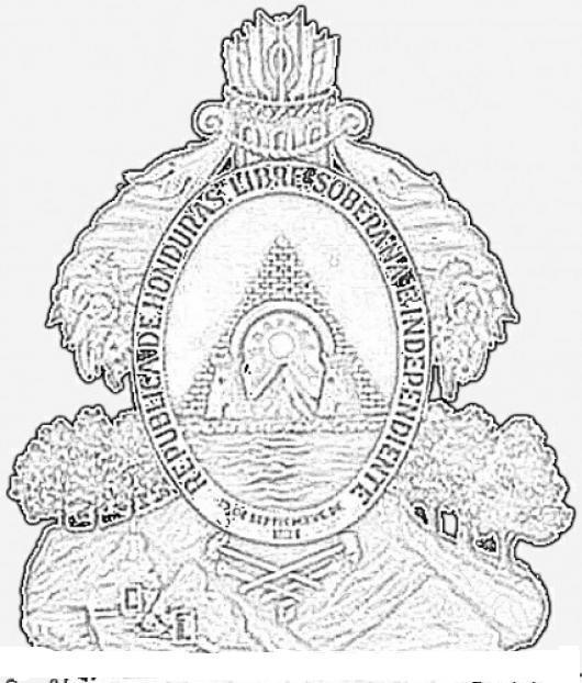 Escudo De Honduras Para Colorear