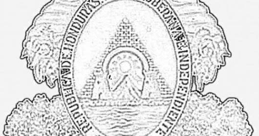 COLOREA TUS DIBUJOS: Dibujo del Escudo Nacional del Pais de Honduras ...