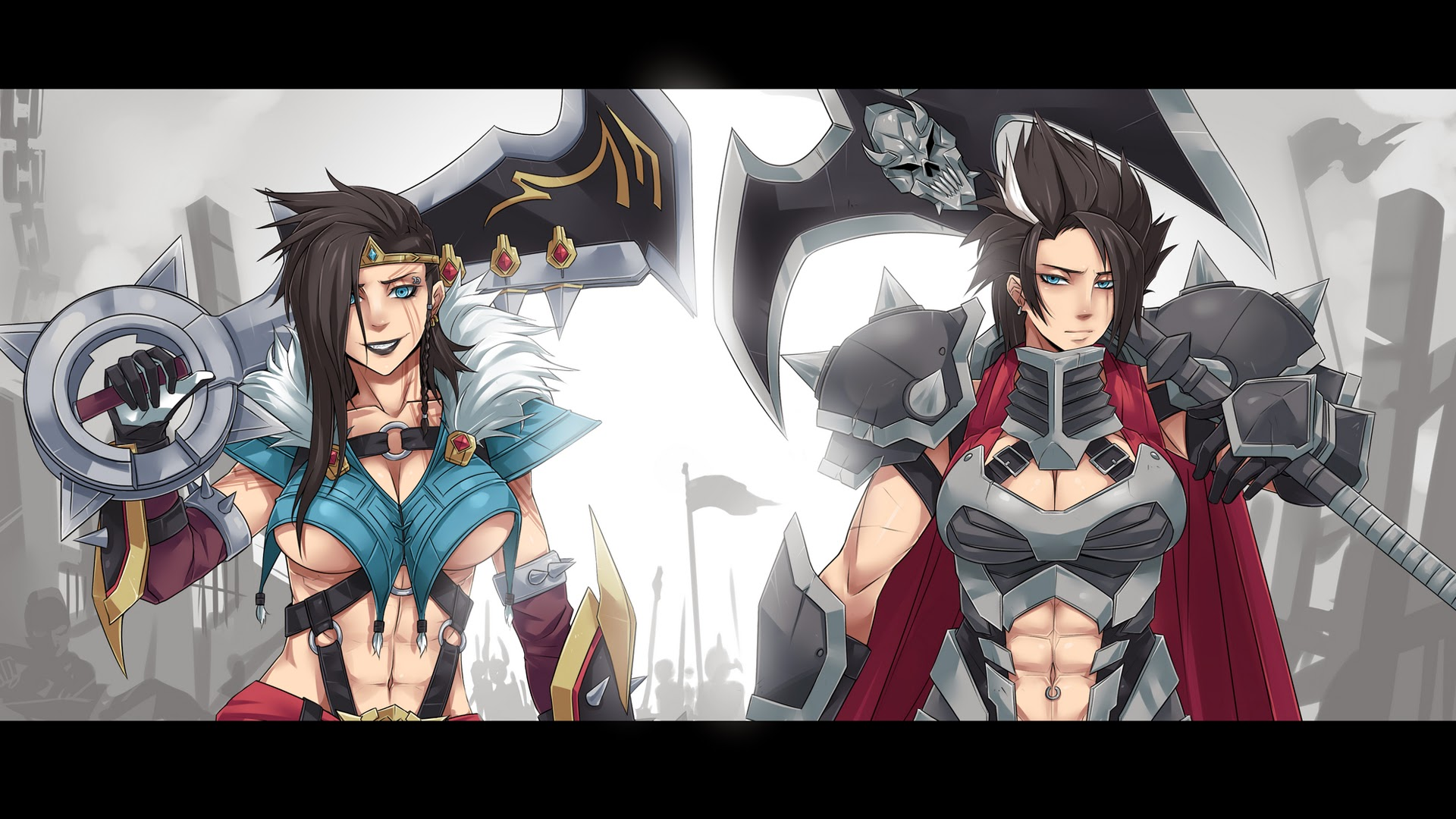 girl draven and darius league of legends hd wallpaper lol champion    League Of Legends Wallpaper Darius Draven