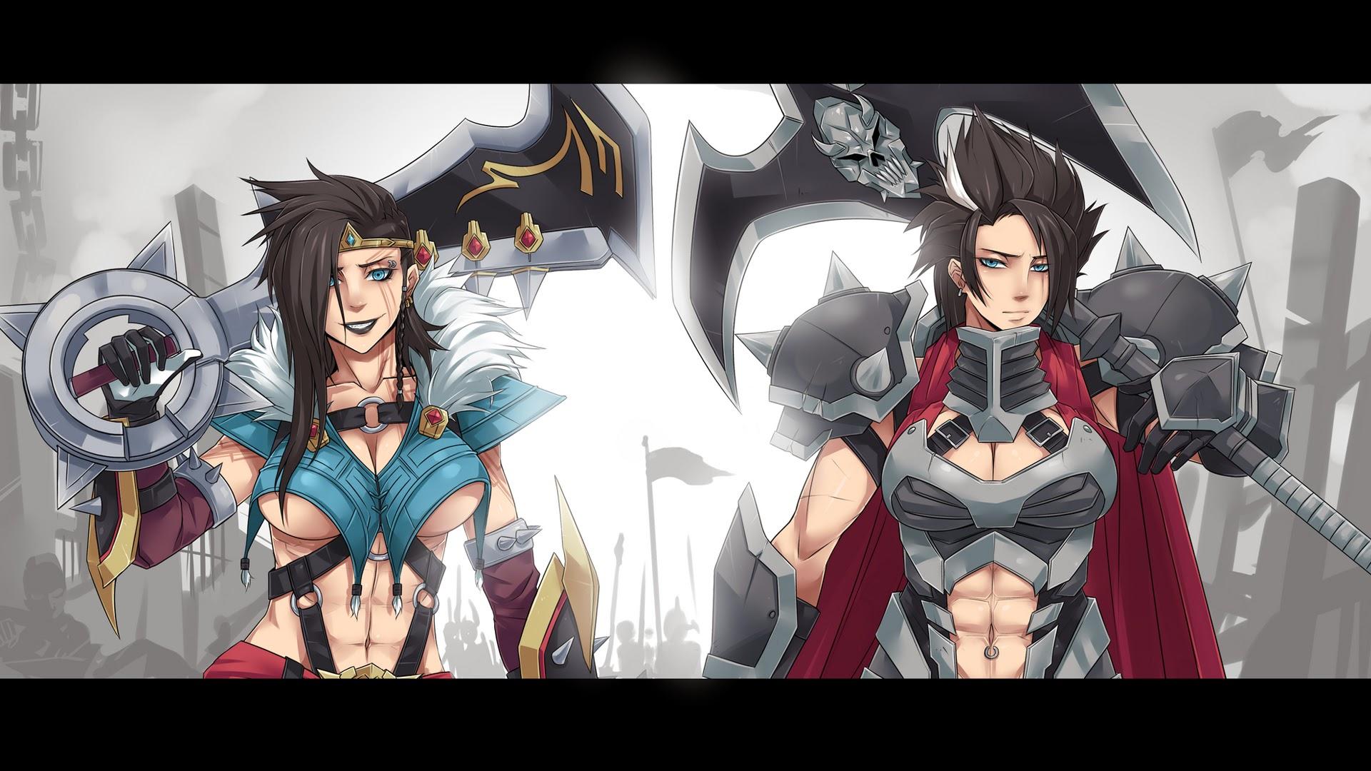 girl draven and darius league of legends hd wallpaper lol champion    League Of Legends Wallpaper Darius Draven