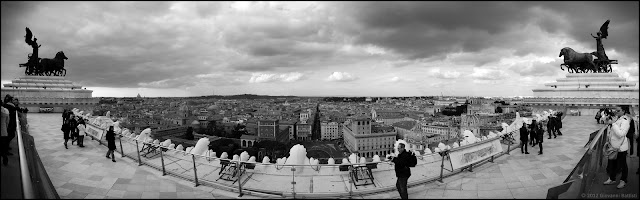 A view of Rome from the Vittoriano