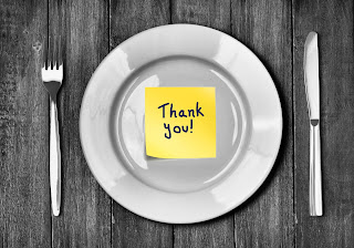 Plate with Thank You