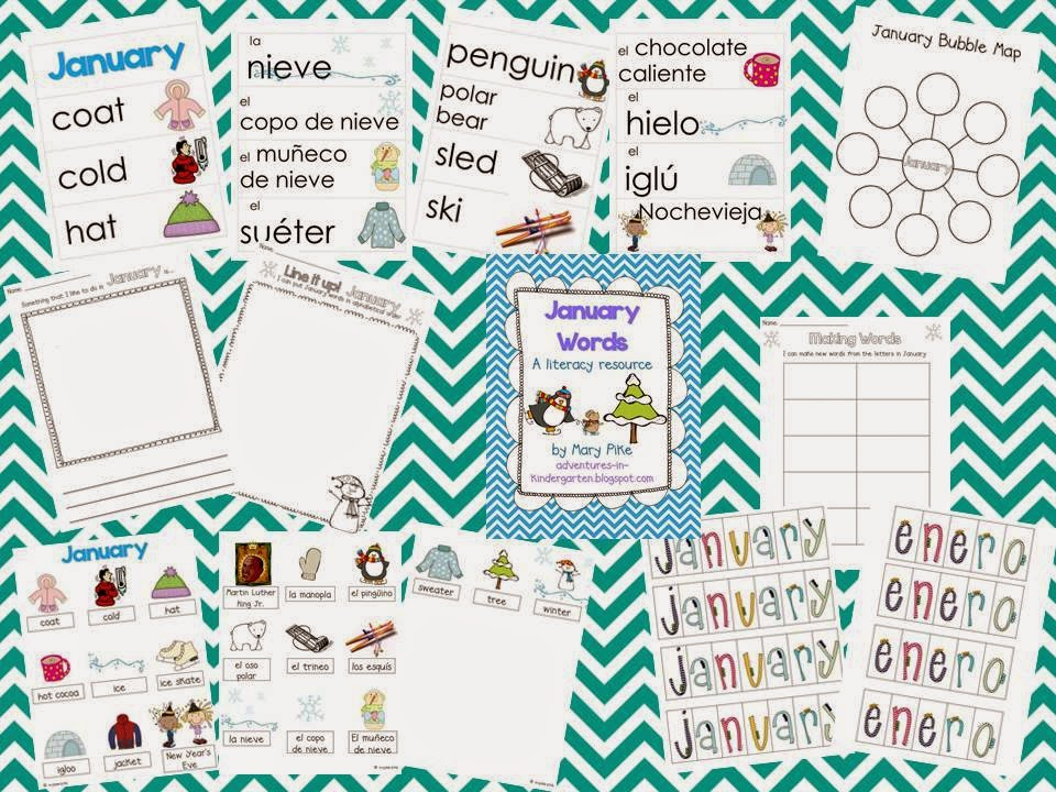 http://www.teacherspayteachers.com/Product/January-Word-Cards-and-Word-Walls-in-English-and-Spanish-463170
