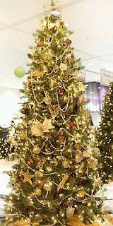 Arboles de Navidad Dorados