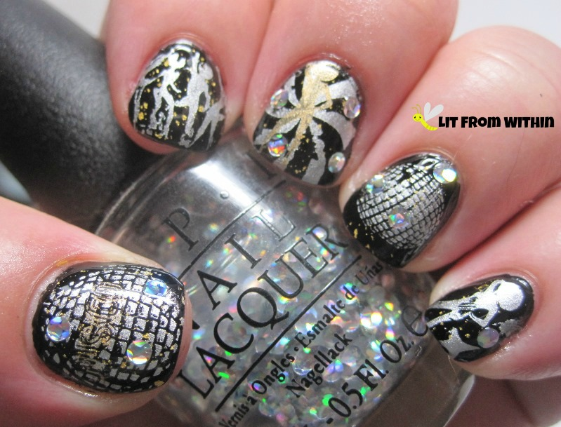holo circle glitters from OPI I Snow You Love Me