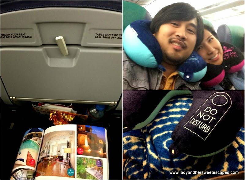 Ed and Lady in Cebu Pacific Dubai-Manila flight