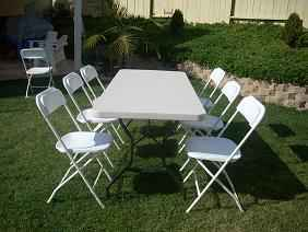 Tables $5 and Chairs $1