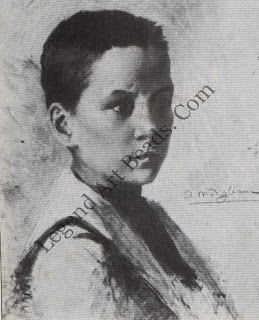The young artist Modigliani was enrolled at art school in Livorno at the age of 14. This charcoal sketch, prominently signed by him, could be a self-portrait. But in any case it is a wonderfully sensitive drawing showing the artist's remarkable talent.