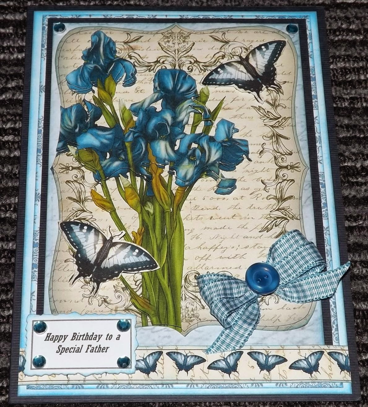 Kym S Crafty Cards Happy Birthday To A Special Father