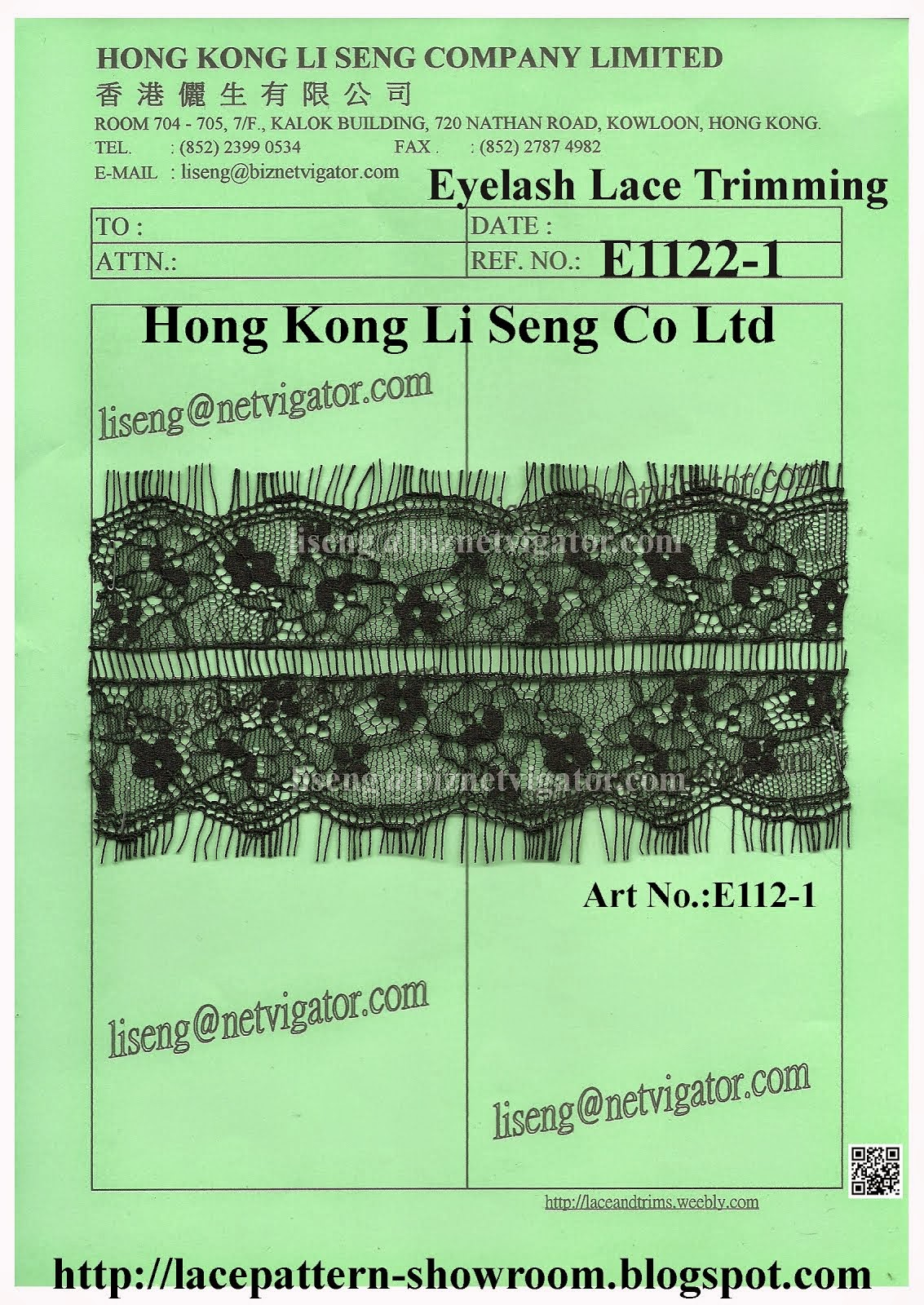 Eyelash Lace Trimming Manufacturer Wholesale and Supplier - Hong Kong Li Seng Co Ltd