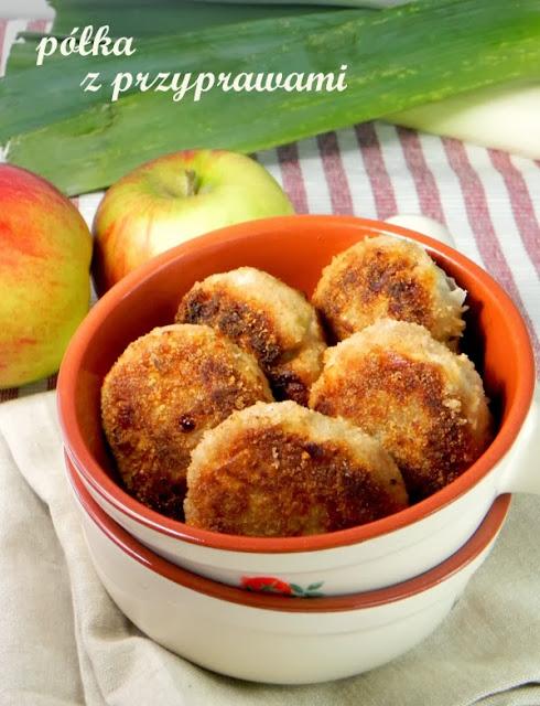 kotlety mielone z porem i jablkiem