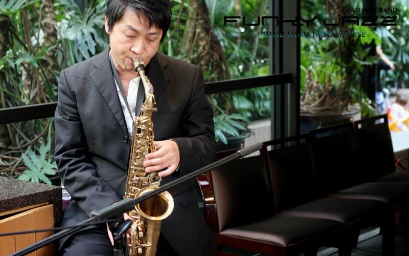 Grand Hyatt Hotel Hong Kong (Pool House) - FUNKY JAZZ music show! by
