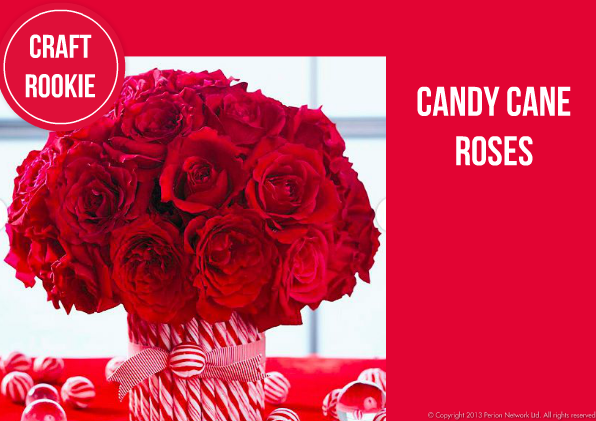 Craft rookie candy cane rose centerpiece