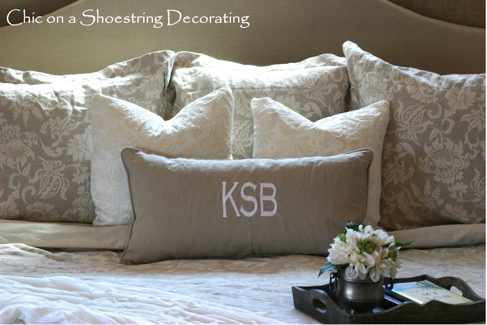 Neutral Master Bedroom Chic On A Shoestring Decorating Neutral Master Bedroom Reveal