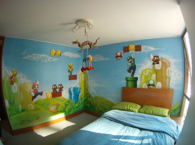 Super Mario Bedroom Decor