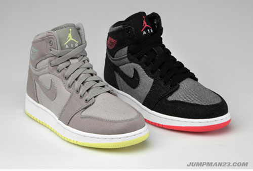 Jordan Brand Summer 2011 Girls Showcase - Air Jordan 1 Canvas High e395bdea70