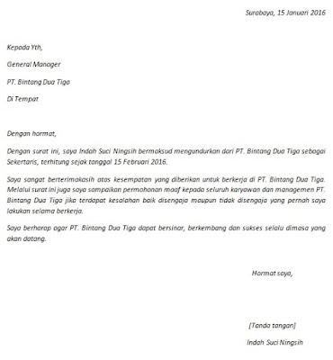 Cara Buat Contoh Surat Pengunduran Diri Resign   Cara Buat ...