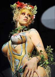 Nature Themed body paint
