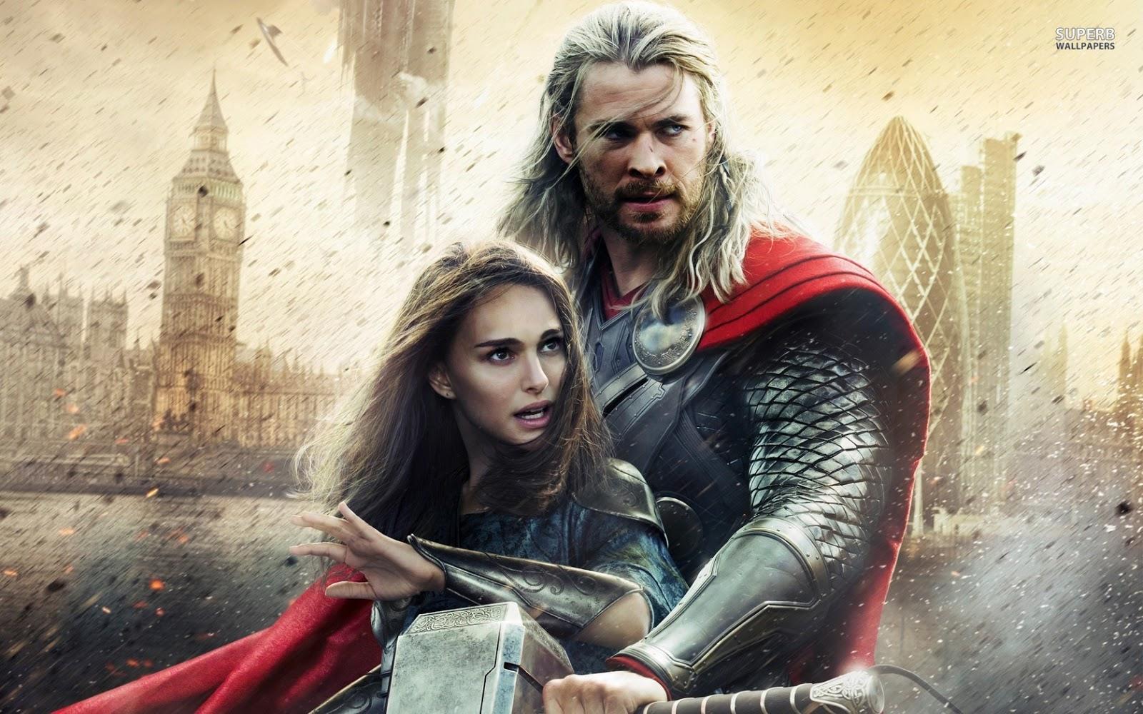 Natalie Portman Thor Movie Poster Wallpaper