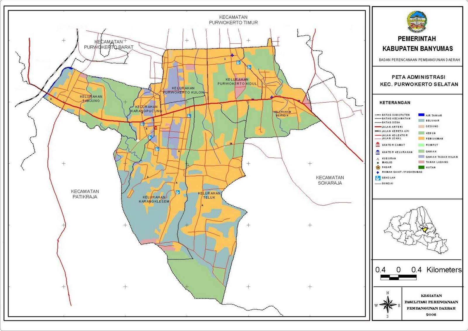 Peta Kecamatan Purwokerto Selatan ~ Patikraja New's
