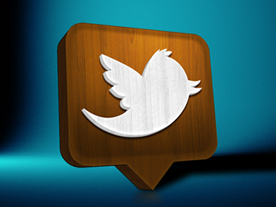 Twitter Wooden Mac Icon