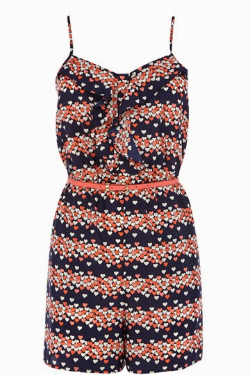oasis heart playsuit