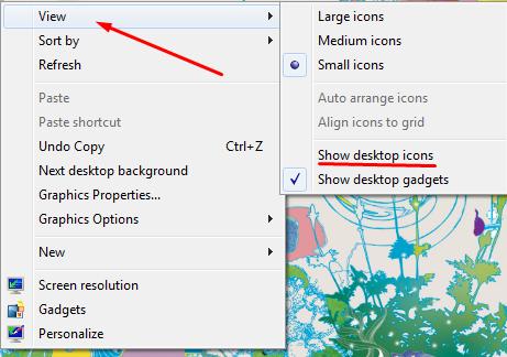 Mengembalikan Desktop Yang Hilang ' Win 7 '
