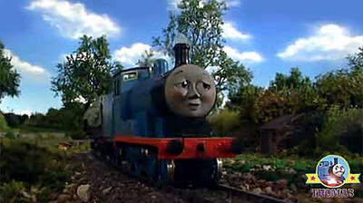Nearly there Thomas the tank engine Edward the great engine gasped roll along the railway track line