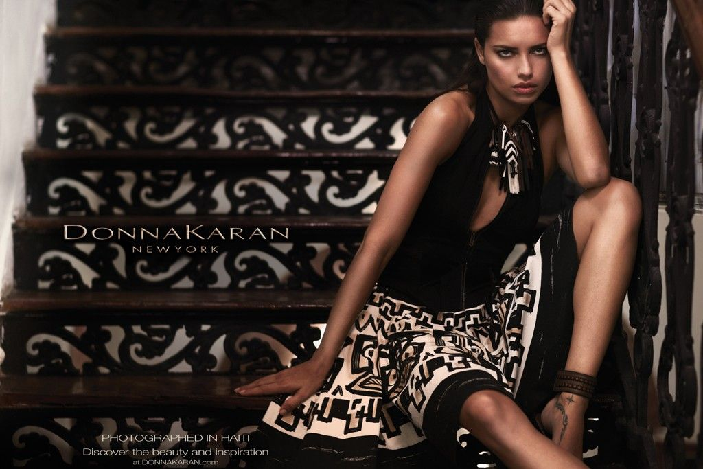 Adriana Lima Hairstyle on Donna Karan Spring 2012 Campaign 4
