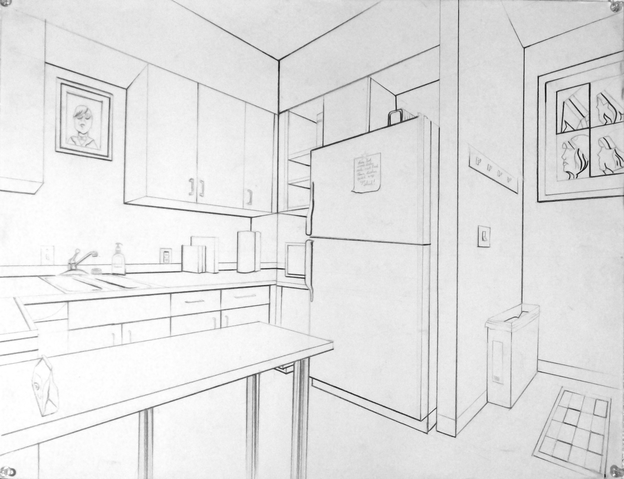 Intro to drawing 2016 09 11 for Living room 2 point perspective