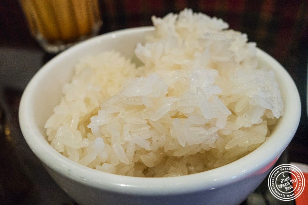 image of sticky rice at Larb Ubol, Thai restaurant in Hell's Kitchen, NYC, New York