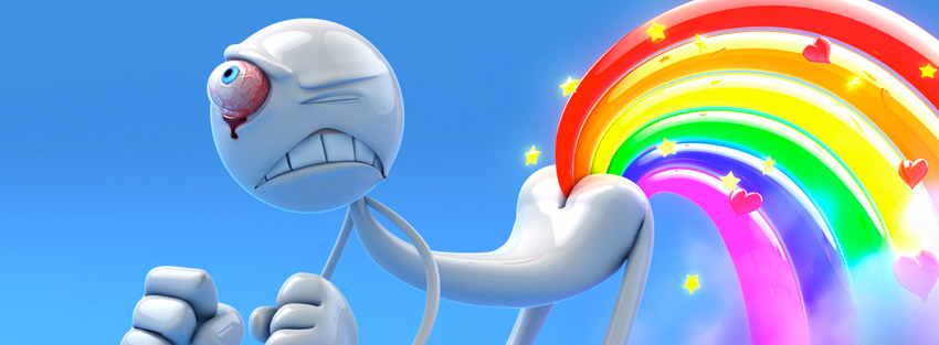 Flow off rainbow funny timeline cover