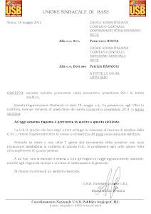 SOLLECITO PER CONTO CONSOLIDATO 2011
